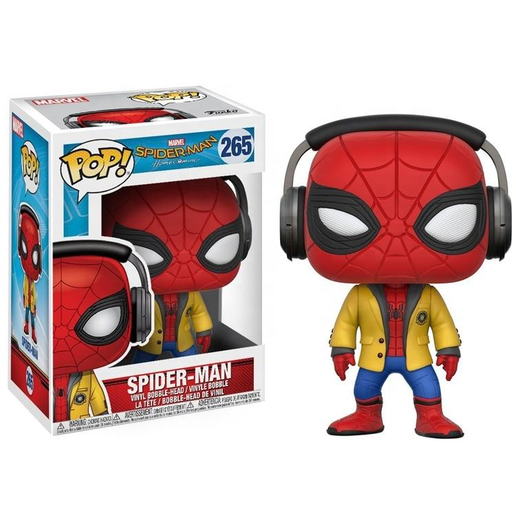 FUNKO POP Spider Man Hero Animation Collection marval kids toys Model Toys PVC Action Figure Toys For Children Gift
