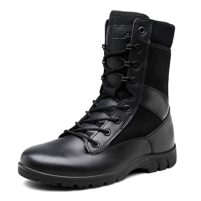 Genuine Leather Police desert boots army combat boots American military boots