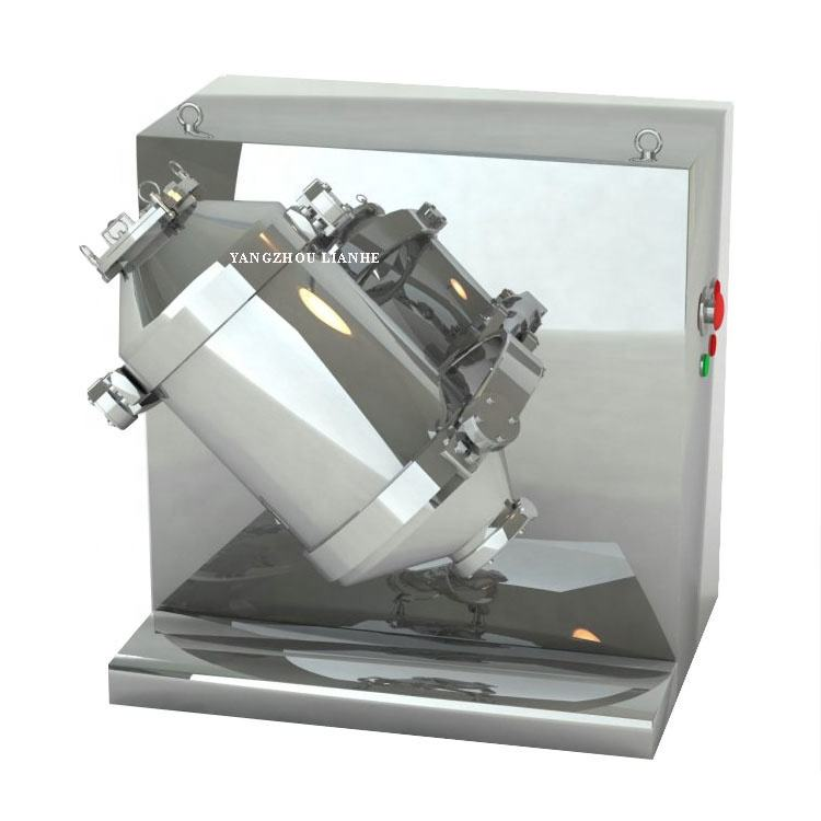 3d Rotating Drum Powder Mixer Machine