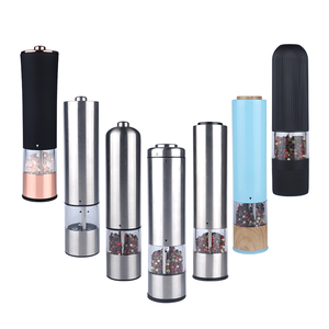 Best home stainless steel electric stainless steel pepper mill  professional customized color electrical pepper and salt mill