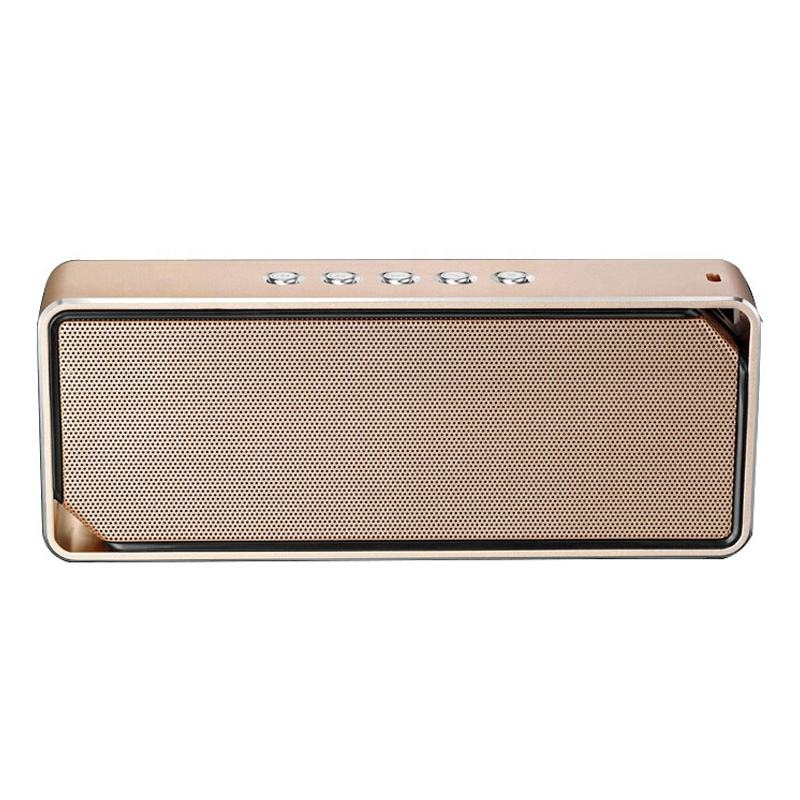 2021 Portable Mini Aluminium Alloy 5.0 BT 3.2W*2 Output Power 1200MAH Wireless Retro Speaker