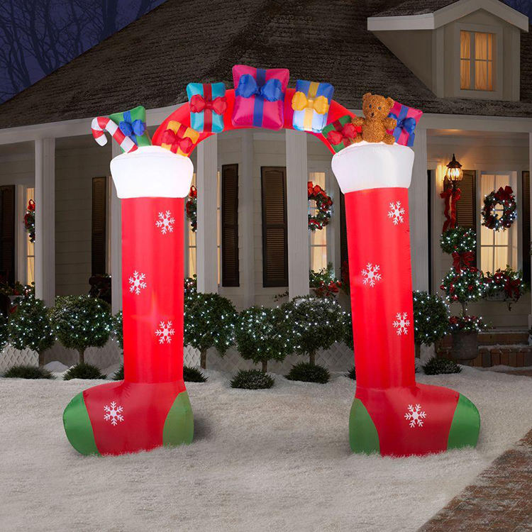 High Quality Christmas Party Decoration Merry Christmas Inflatable Arch