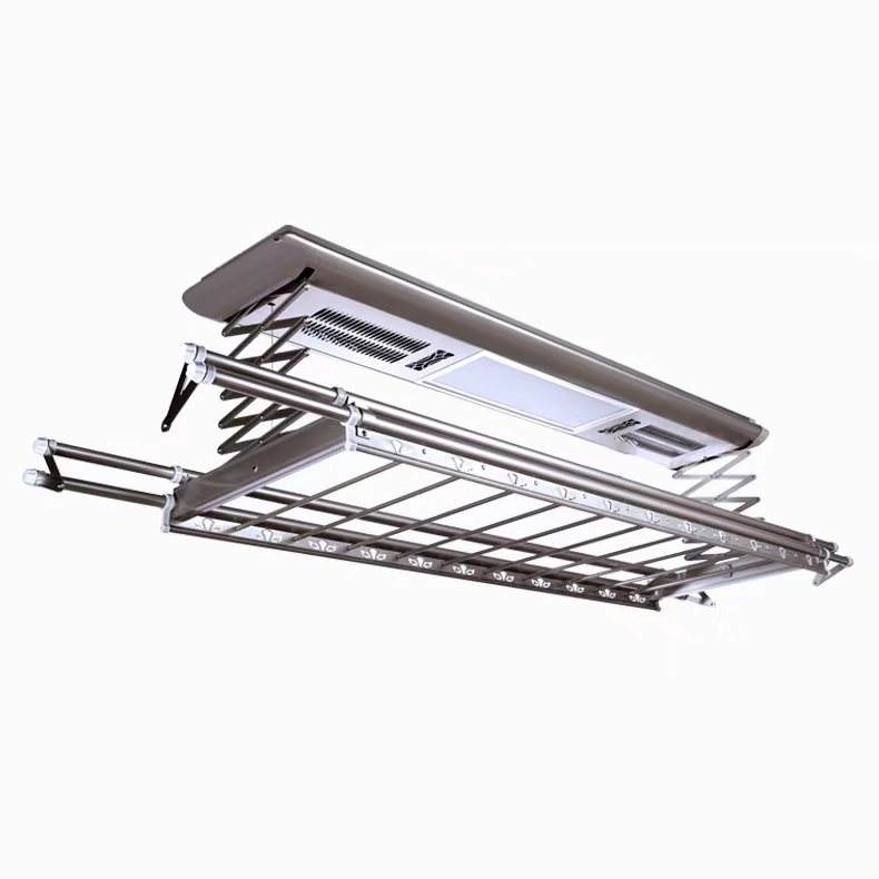 Extendable Aluminum Motorized Ceiling Auto Serilizing Wireless Remote Clothes Drying Rack In China