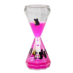 Wholesale Custom Printing Logo Liquid Hour Glass Plastic Hourglass