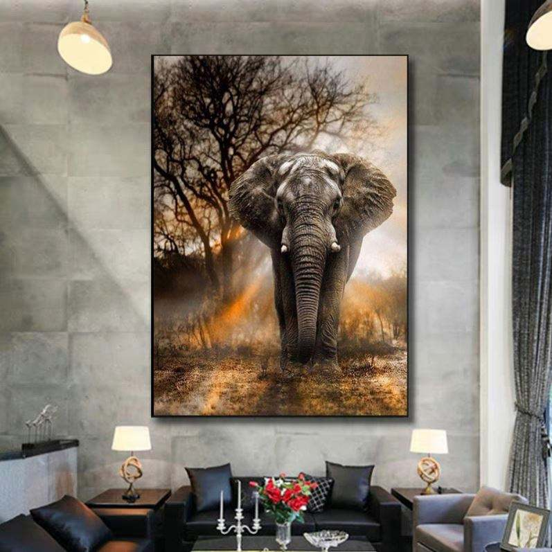 Decorative Animal Elephant Fox Rabbit Wall Art Pictures Hotels China Home Decor Wholesale Print Canvas Painting