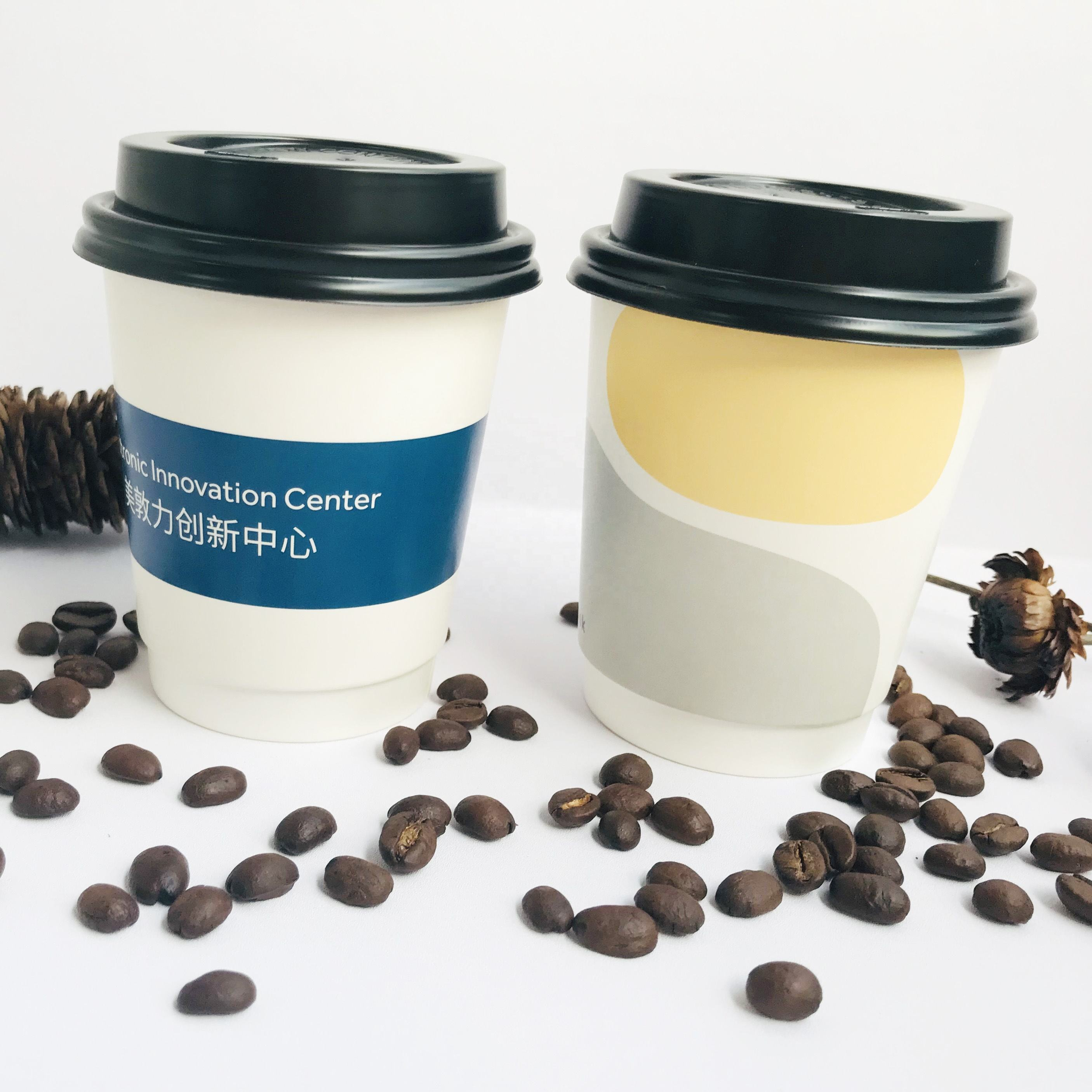 White Paper Takeaway Coffee Cup With Logo