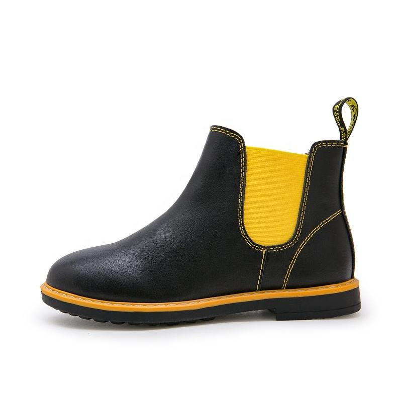 new OEM fancy quality PU chelsea boots unisex kids ankle boots shoes for boys