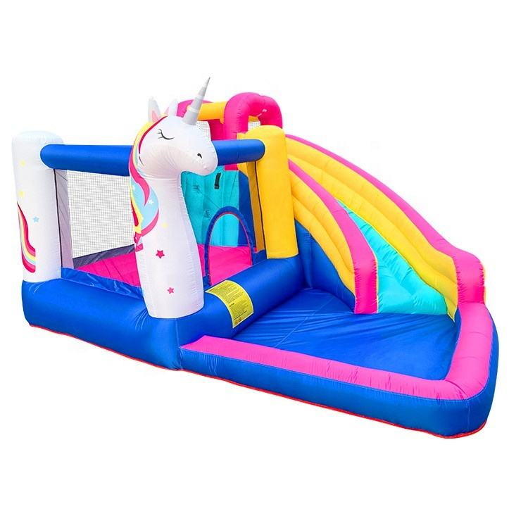 hot sell unicorn bounce house inflatable mini combo bouncer for kids