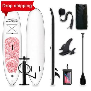 Drop verschiffen BSCI inflatabled stand up paddle board rosa surfbrett mit paddel