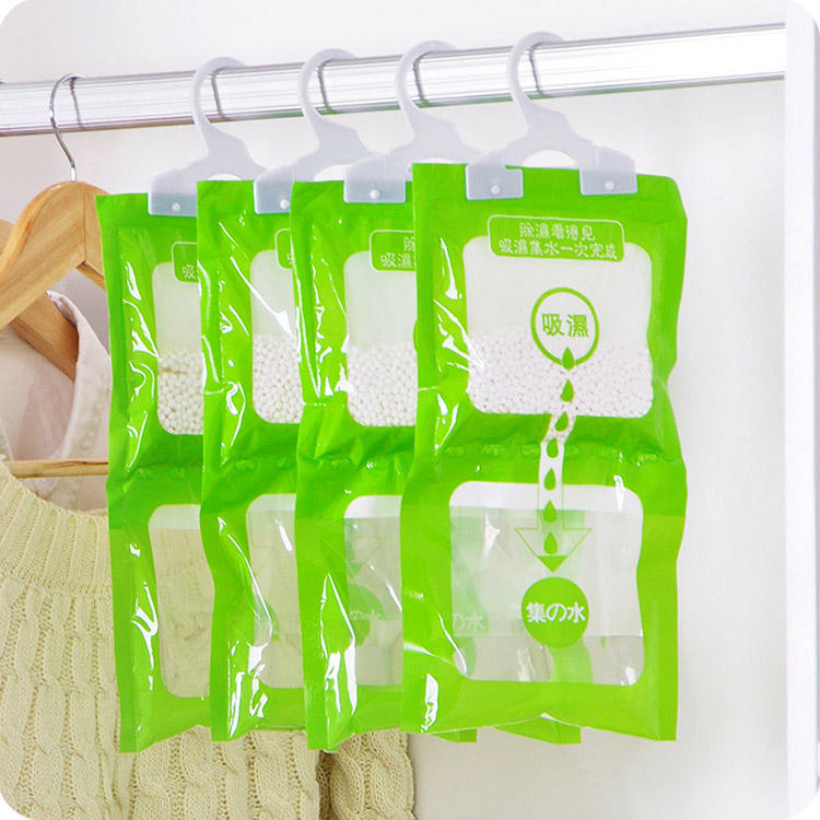 Customizing Bathroom Wardrobe Moisture Control Hanging Bag Moisture Absorber Hanging Dehumidifier Bag with Hanger