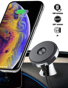 Car Phone 10w Qi Stand Fast Mount Universal Holder Portable Magnetic Mini Cell Mobile Wireless Charger