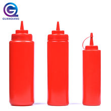 Wholesale Food Grade Ketchup Condiment Plastic Sauce Squeeze Bottle