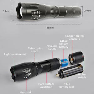 Mini USB Rechargeable Powerful 1000 Lumens T6 5 Levels Adjust 6000k Emergency Lights Dive Police Portable Led Torch Flashlights