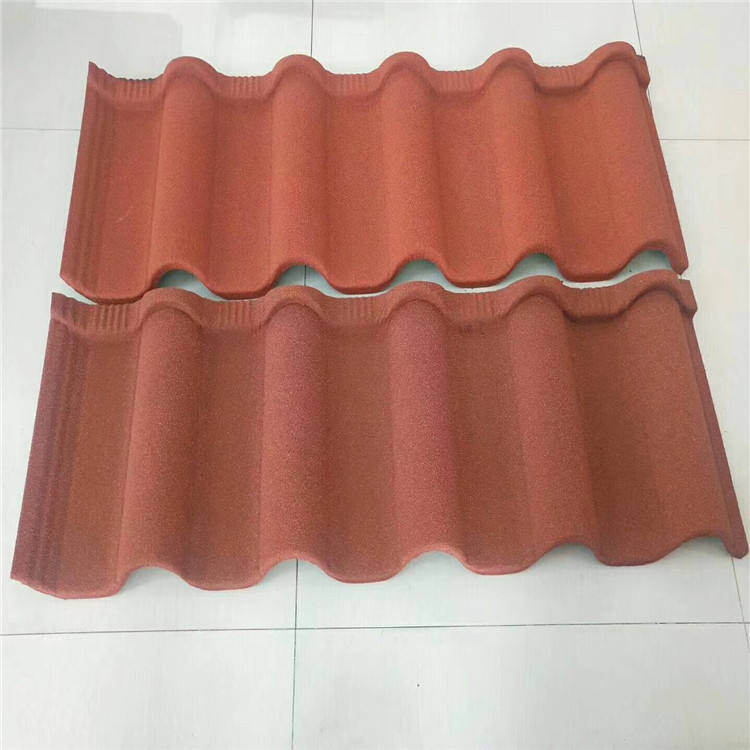 High quality natural stone coated solar roof tile galvanized sheet metal roofing for wholesales