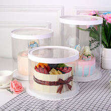 New factory price tall clear plastic round cake box