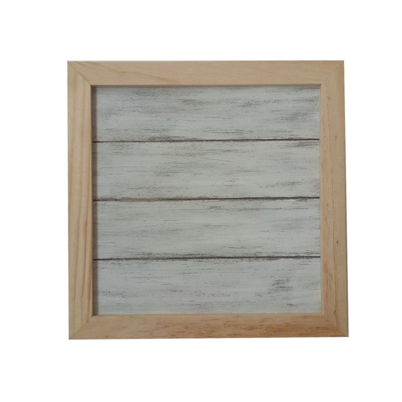 Wood Wall Plaque Wood frame white wash board DIY Decoration Base