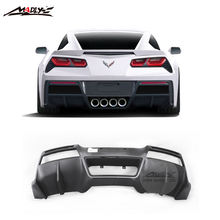 Perfect Quality Carbon Fiber C7 Rear Lip For Chevrolet Corvette C7 Rear Diffuser for Corvette C7 GT Concept Style 2014-2016 Year