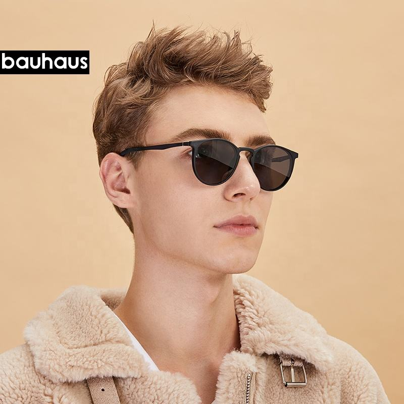 Ultem [ Unisex ] Clip On EA8035 Bauhaus Factory Cheap Unisex Magnetic Sunglass Clip On Eyewear