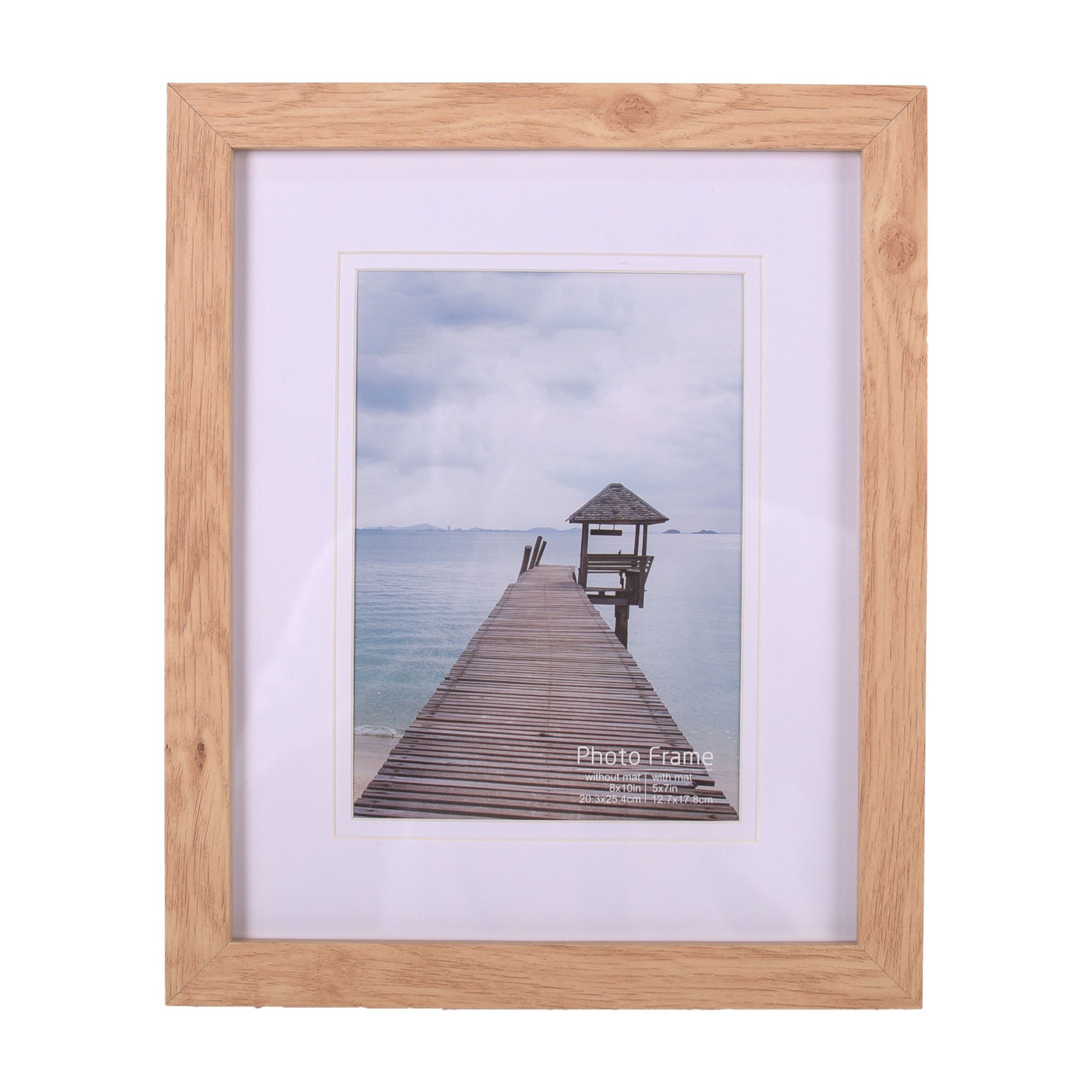Amazon Top Selling 4x6 5x7 8x10 Art Work Natural Wood Color MDF Wooden Photo Frame