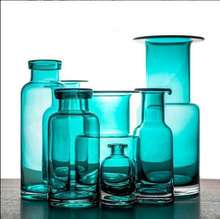 Northern European style colored glass vase for home decoration