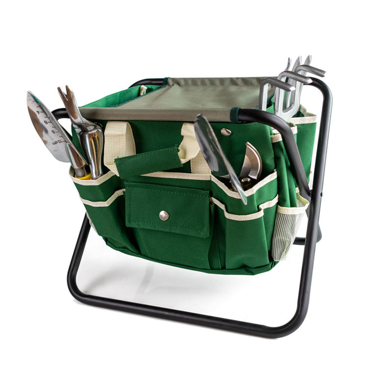 Kids Garden Hand Tool Set with Soft Rubberized Non-slip Handle,Durable Storage Tote Bag and Pruning Shears