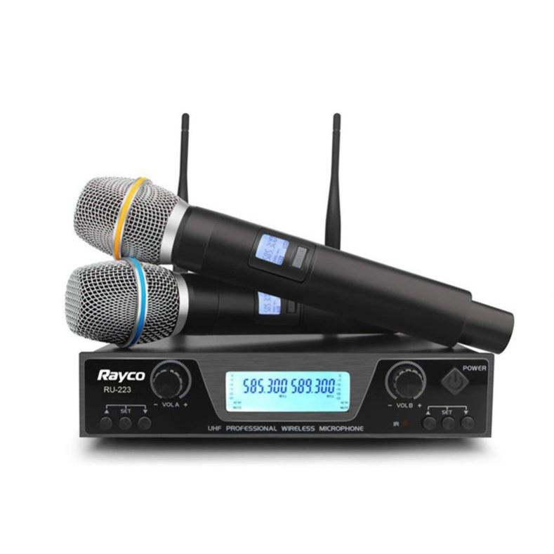 Hot Selling Dual Channel Portable PLL UHF Wireless Microphone For Karakore Singing