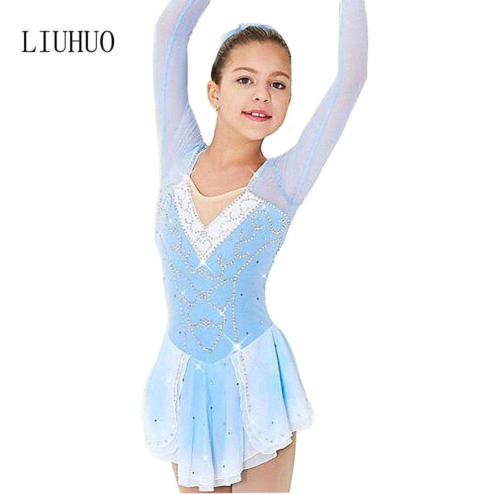 2019 New Style子供フィギュアSkating Dress Latin Dance Costume Skater Dressesスケートダンス衣装