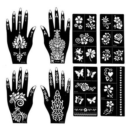 JINSUI New Desgin Sticker Temporary Tattoo Henna Stencil