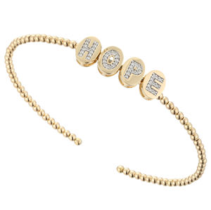 Latest Sumptuous Wedding 18K Yellow Gold Diamond Gold Ball Cute Fancy Bangles For Lady