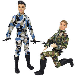 32 cm realistic fashion Shoes uniform military clothes doll accessories for man