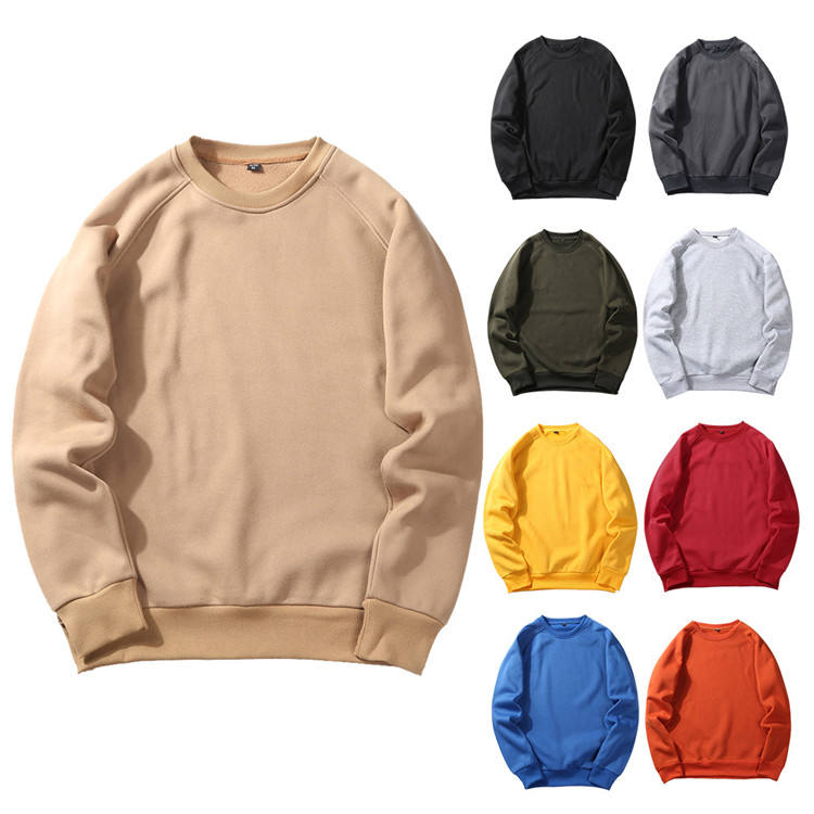 9.7 Pullover Crewneck Sweater OEM Customizable Fleece Polyester Casual European Size Round Neck Sweatshirt Sweatshirts