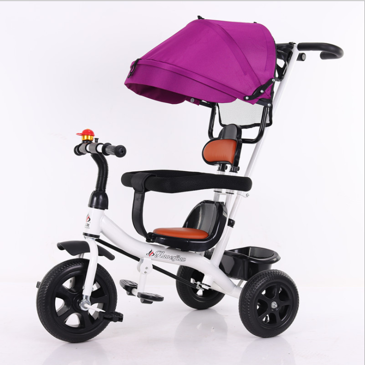 Kids tricycle with leather backrest and seat/china hot sale baby tricycle bike/ kids 3 wheel pedal bicycle toys for sale