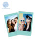 Mini size color film sky blue edge for Polaroid instax mini camera wholesale new Christmas decorations