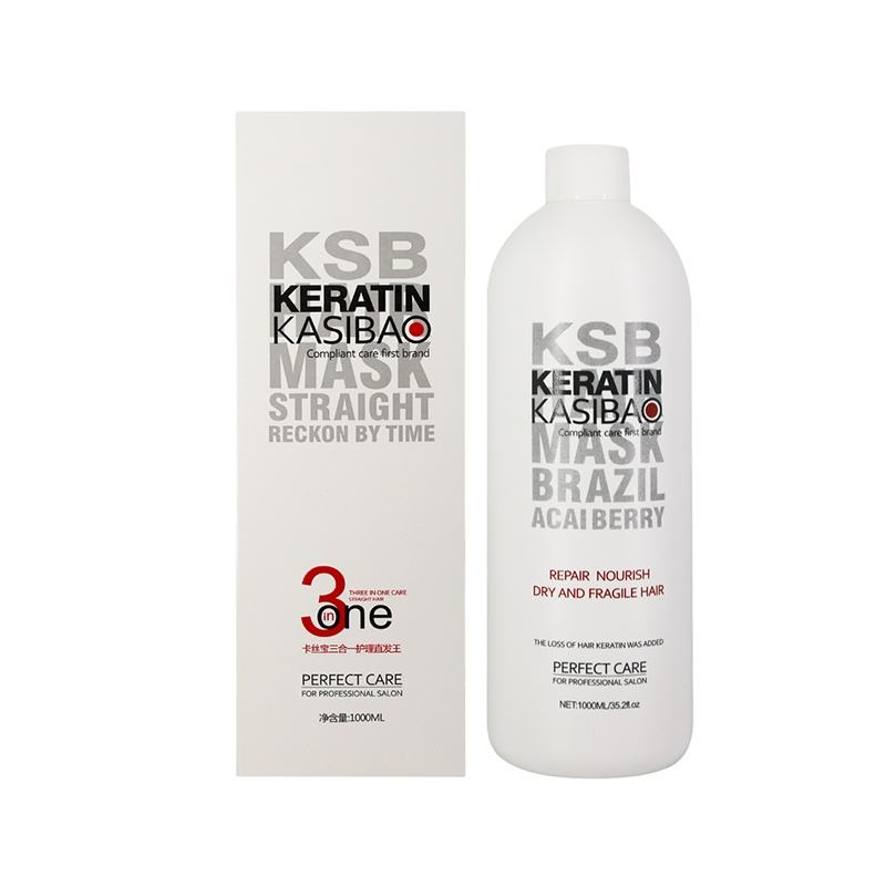 KSB OEM Private Label Hair Keratin Treatment 1000ml Free Sample Wholesale Keratin treatment smoothing cream for hair