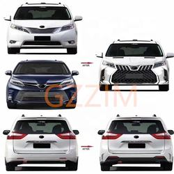 factory sale high quality front & rear LM style body kit for Sienna 2011-2020