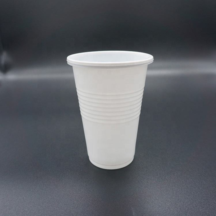 Odm 12Oz/360Ml Food Grade Round Shape White Pp Restaurant Plastic Water Cup Manufacturer