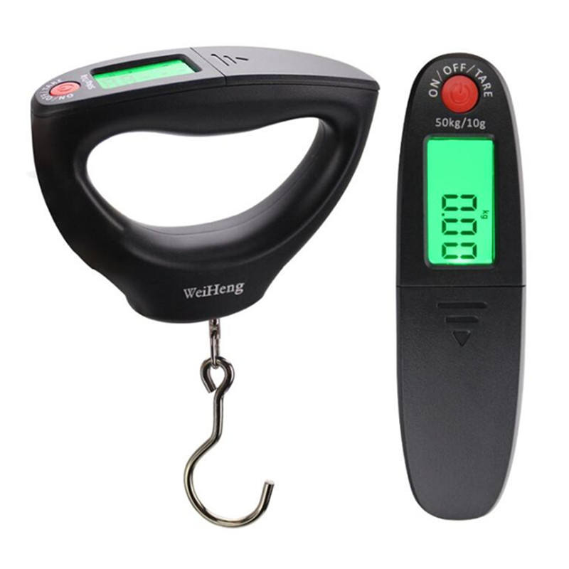 Portable Mini Digital Hand Held 50Kg 10g Fish Hook Hanging Scale Electronic Weighting Scale LCD Display Balance