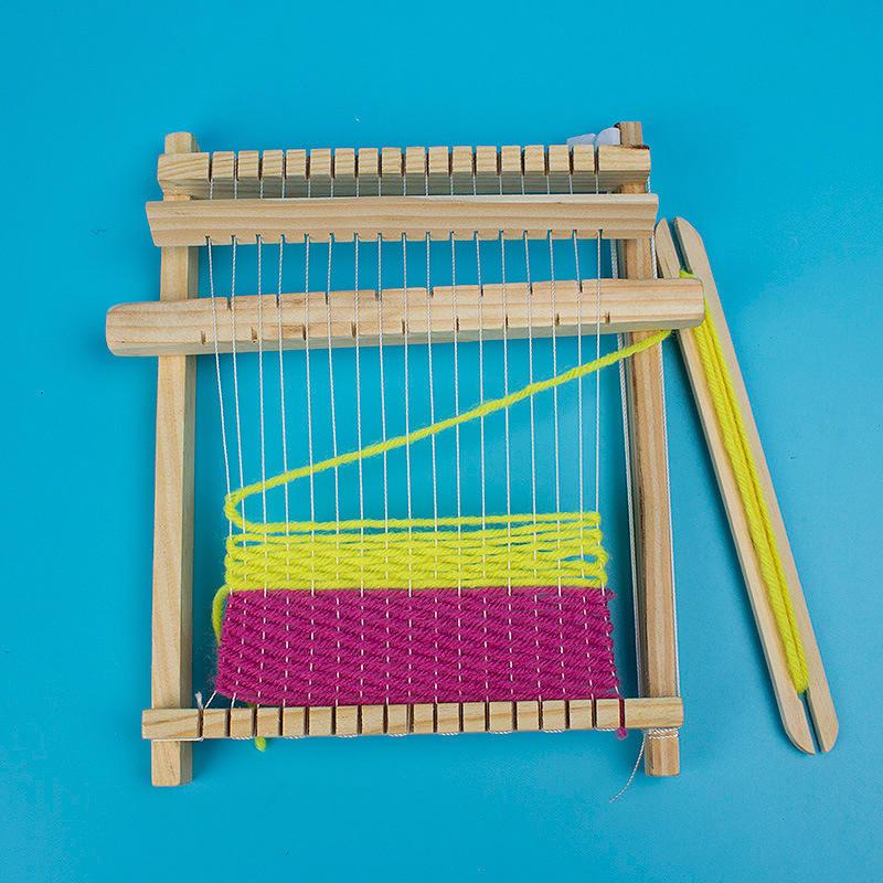 Traditional Wooden Loom Weaving Handmade Knitting Kit Weaving Machine Kids Toy
