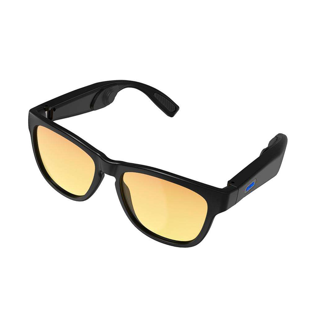 LC1 sport neoprene strap cat eye metal sunglasses fashion polarized bluetooth music bulb headsetwith sun glasses black lens