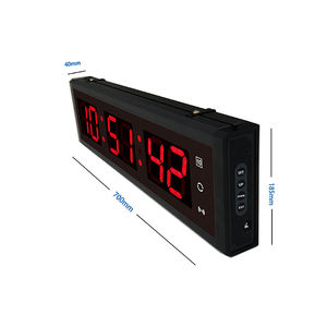 Rumah Latihan Kebugaran Olahraga Countdown Timer Gym Crossfit Led 6 Digital Timer Clock