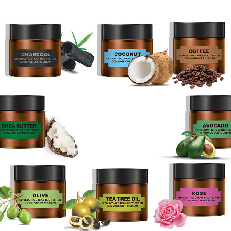 Wholesale OEM/ODM Private label natural coffee face scrub organic deep cleansing facial body scrub