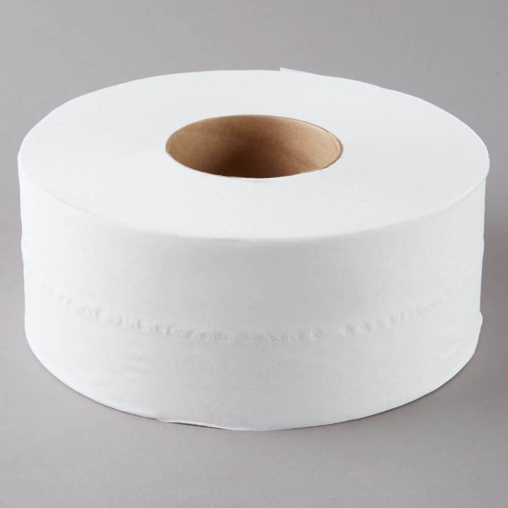 2ply white jumbo tissue roll towels for Toilet / jumbo paper roll