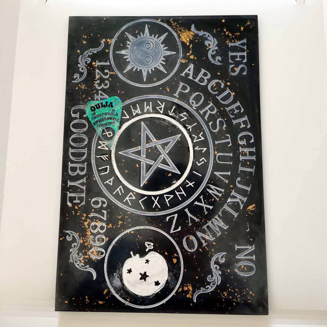 BIG SIZE shinny 3D High-Quality large Ouija Board silicone Mold for Resin mold and Polymer Clay DIY Handmade charms mold
