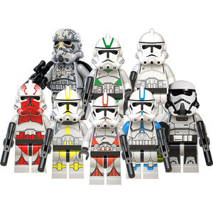Stern Han Solo Chewbacca stormtrooper mini action-figuren Pong Krell Starwars legoes mini Bausteine wars Block