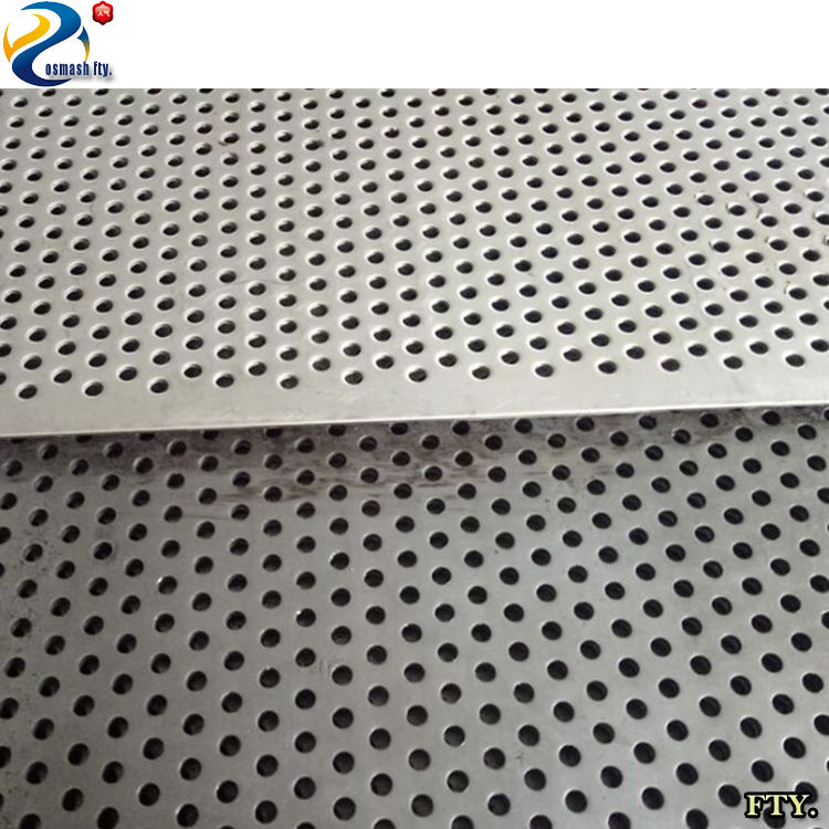 1mm thickness round hole galvanized perforated metal mesh sheet