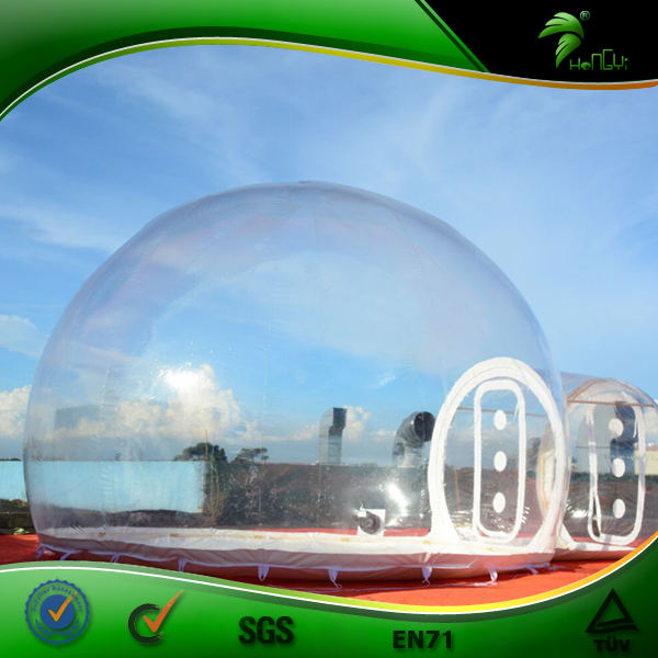 Outdoor Camping Clear Inflatable Bubble Tent With Tunnel, Air Dome Tent, Inflatable Lodge Tent