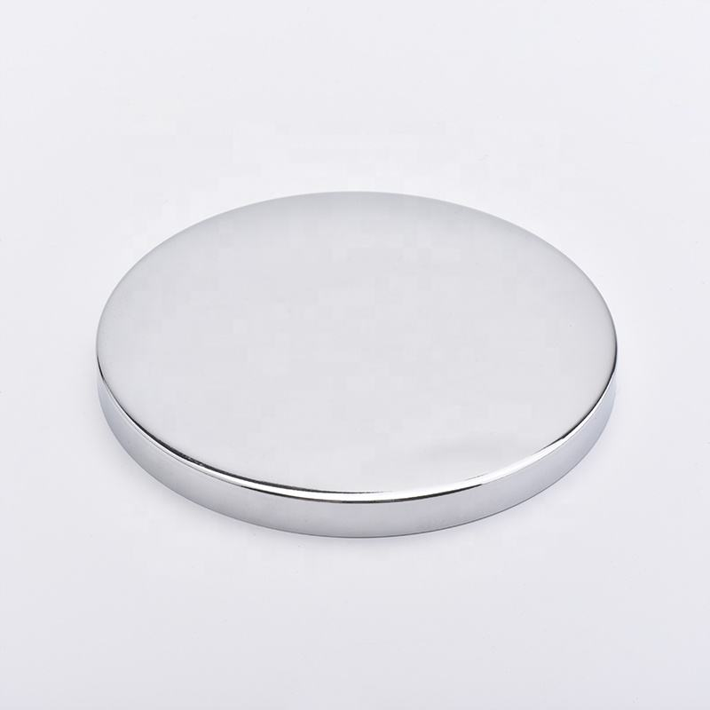 mirror metal lids for candle holders electroplating color caps for glass containers wholesales