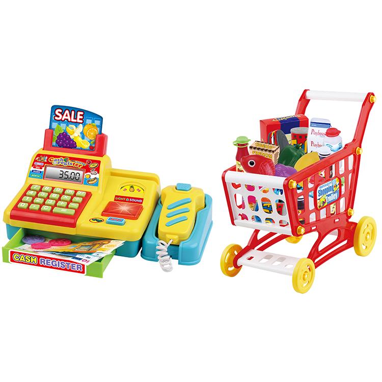 Çocuk çok fonksiyonlu bulmaca oyun Disguise süpermarket yazarkasa seti ışık ile ses alışveriş oyuncak araba