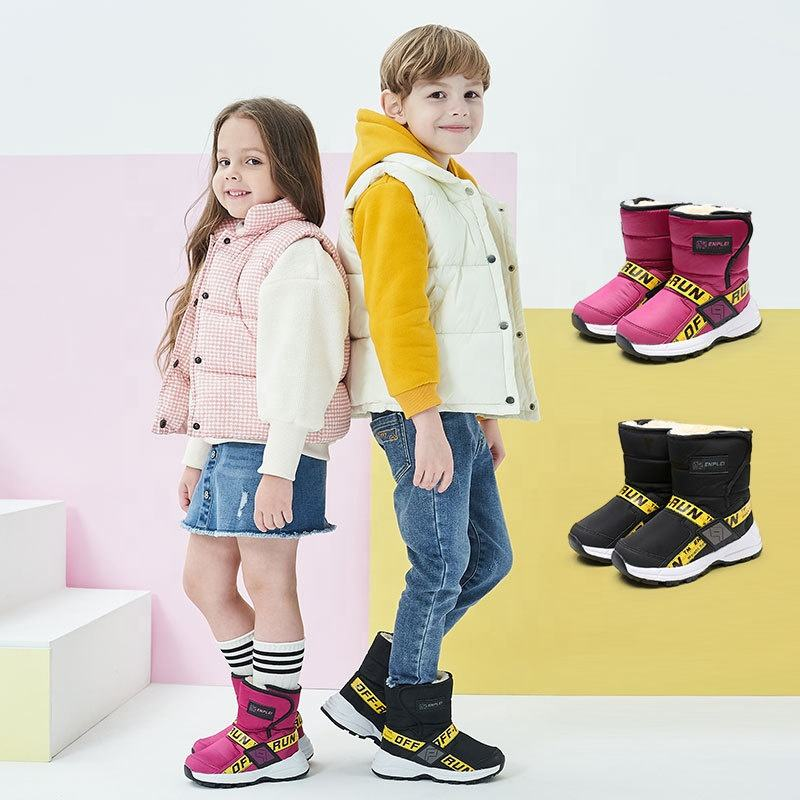 XY05 Children Winter Waterproof Snow Boots Fashion Platform Moon Boots For Children