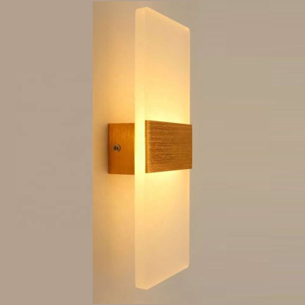 Factory Price Custom Made Modern Smart Control Wall Mount Indoor Hotel Bedroom Led Lamparas Wall Lamp Gold